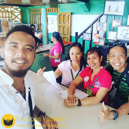 Our selfie with Maam Jane of the Kiamba Tourism office thank you for letting us spend a night at your office