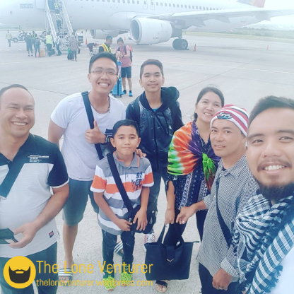 Our selfie with Pastor Louie and his family upon our arrival at General Santos City Airport